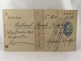Image of cheque