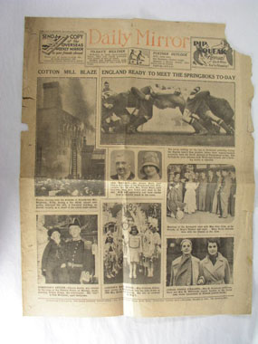 Image of newspaper cutting