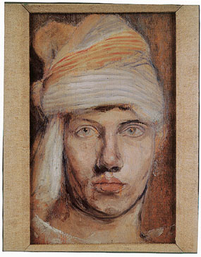 Image of painting Self portrait in a turban [Click here to close this image]