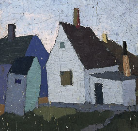 Image of painting Painting of a group of buildings