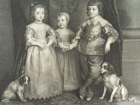 Image of engraving Children of Charles I