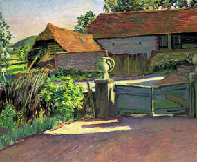 Image of painting The Barns From the Garden