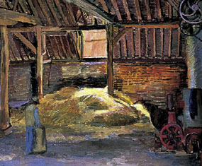 Image of painting Inside Charleston Barn