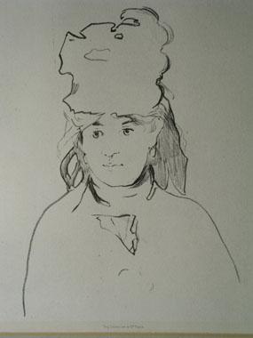 Image of lithograph Portrait of Berthe Morisot
