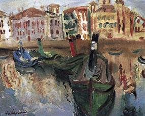 Image of painting Harbour, St Jean de Luz