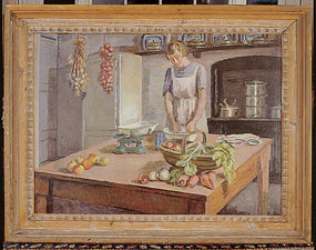 Image of painting The Kitchen at Charleston [Click here to close this image]