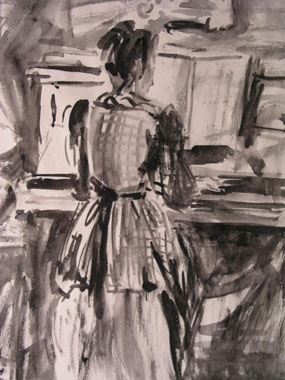 Image of painting Angelica at the Piano