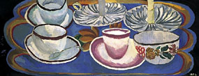 Image of painting Tea things