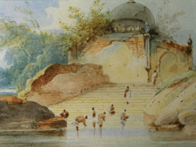 Image of watercolour A View of India