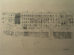 Image of etching The Old Hotel Royal, Dieppe [Click here to close this image]