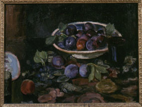 Image of painting Still life of plums