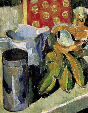 Image of painting Still life with Omega cat