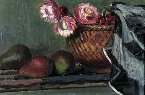 Image of painting Still life-Pears and Everlasting Flowers