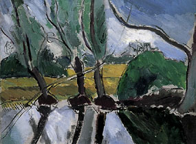 Image of painting Willows at Charleston