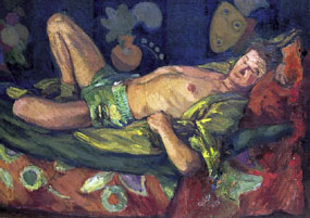 Image of painting Paul Roche reclining