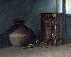 Image of painting Ancient urn and Bible
