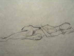 Image of drawing female nude [Click here to close this image]