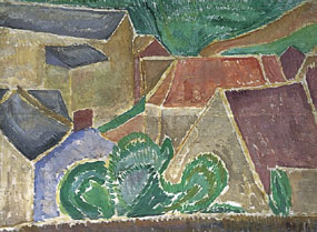 Image of painting Landscape with buildings