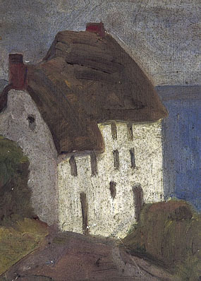 Image of painting Cornish Cottage