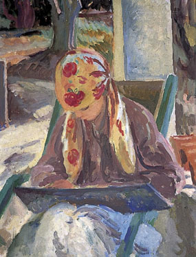 Image of painting Portrait of a girl reading