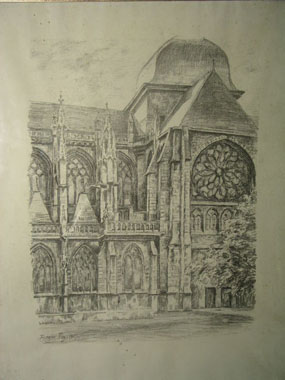 Image of print French Church