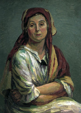 Image of painting Helen Anrep in Turkish Costume