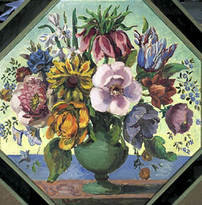 Image of painting Octagonal Flower piece