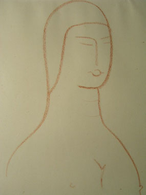Image of print Nude female torso