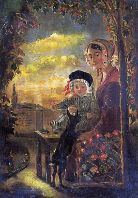 Image of painting Portrait of Mother and child
