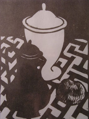 Image of woodcut Jug and Vase