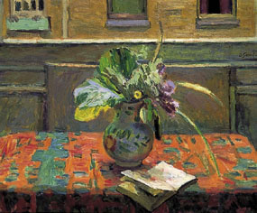 Image of painting Flowers in Front of a Window