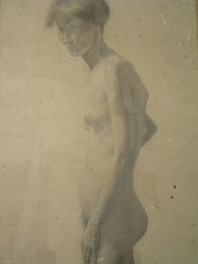 Image of drawing Female nude