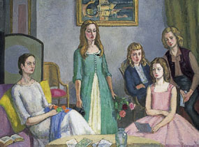 Image of painting Angelica Garnett and her four daughters