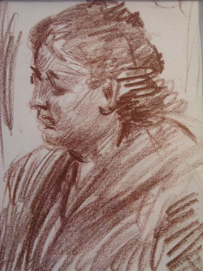 Image of drawing Head of a woman