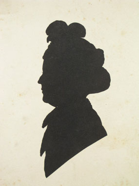 Image of silhouette Henrietta Grant [Click here to close this image]