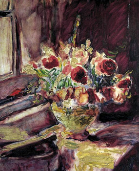 Image of painting Still life-Flowers in a vase