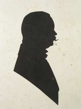 Image of silhouette Silhouette of Bartle Grant [Click here to close this image]