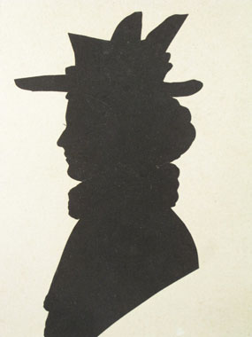 Image of silhouette Silhouette of Ethel Grant