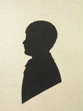 Image of silhouette Silhouette of Duncan Grant [Click here to close this image]