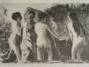 Image of lithograph Baigneuses