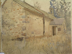 Image of watercolour The Kirk at Rothermurchus