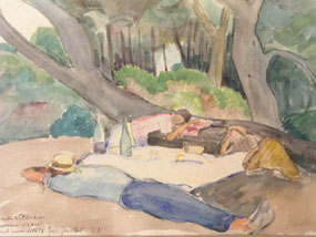 Image of watercolour Picnic