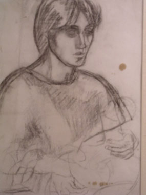 Image of drawing Vanessa Bell with Angelica as a baby