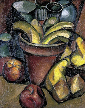 Image of painting Still life with fruit and flower pot