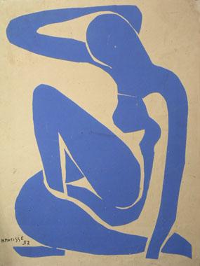 Image of print Nu bleu