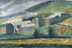 Image of painting Industrial buildings in the downs
