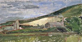 Image of painting Industrial buildings on the downs