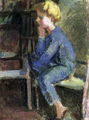 Image of painting Seated child