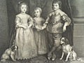 engraving Children of Charles I [Click here to see more information about this item]