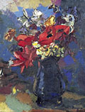 painting Still life, flowers in jug [Click here to see more information about this item]